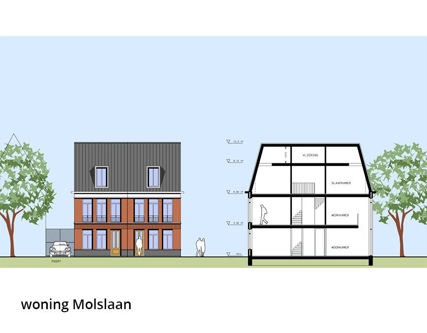 LaVie Vastgoedontwikkeling - stadswoningen Molslaan - woning Molslaan